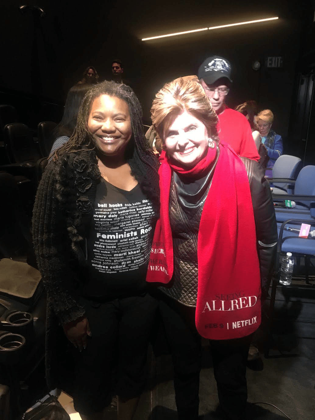 Filmmaker Services Manager Toni Bell with Gloria Allred