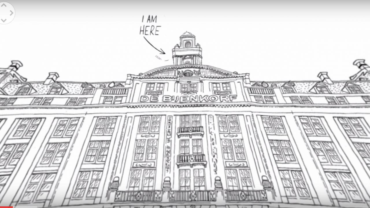 From Jan Rothuizen and Sara Kolster's 'Drawing Room,' which won the Digital Storytelling Award at IDFA.