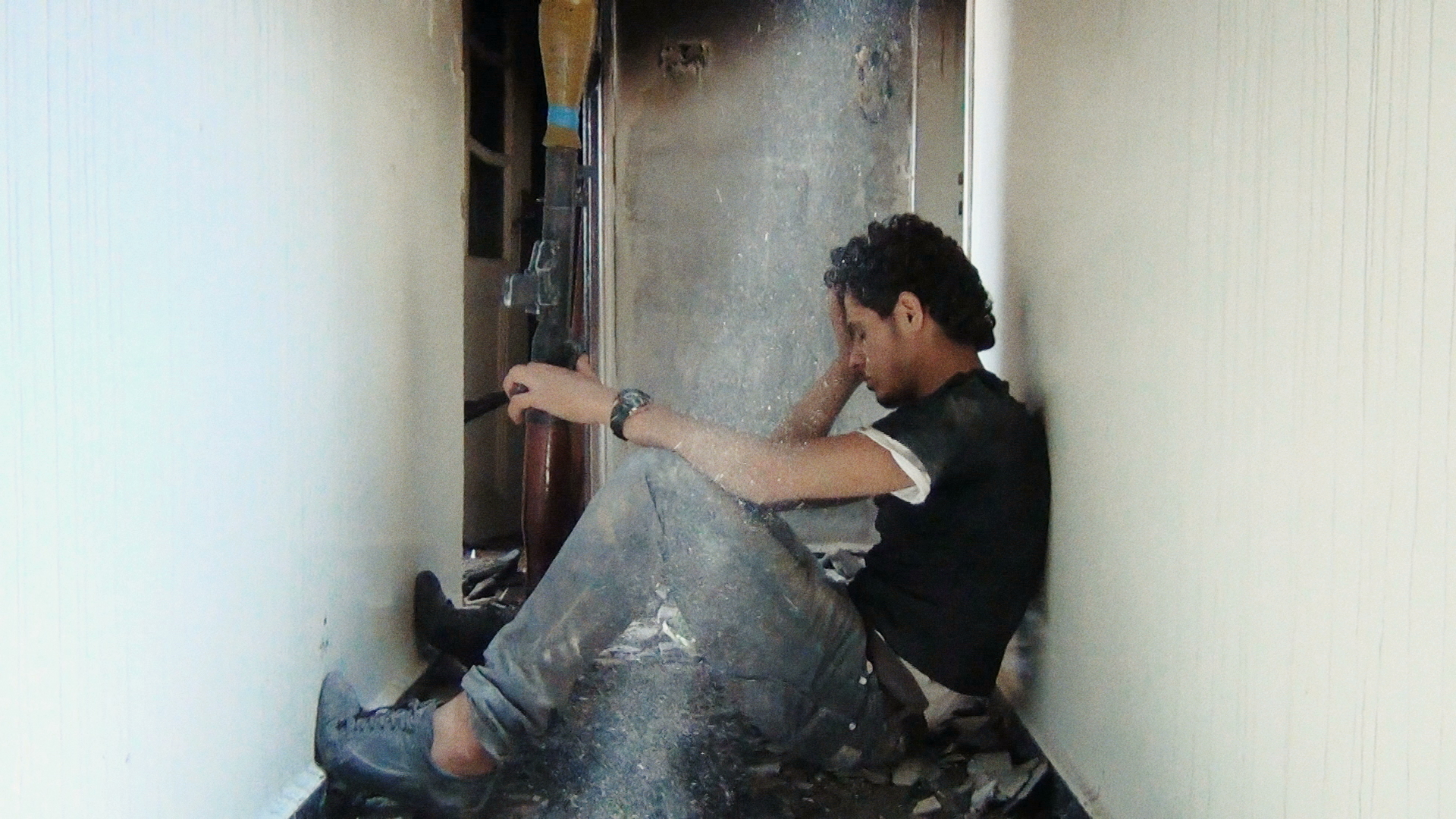 "From Talal Derkel's ""Return to Homs."" Courtesy of Proaction Films/Ventana Films"