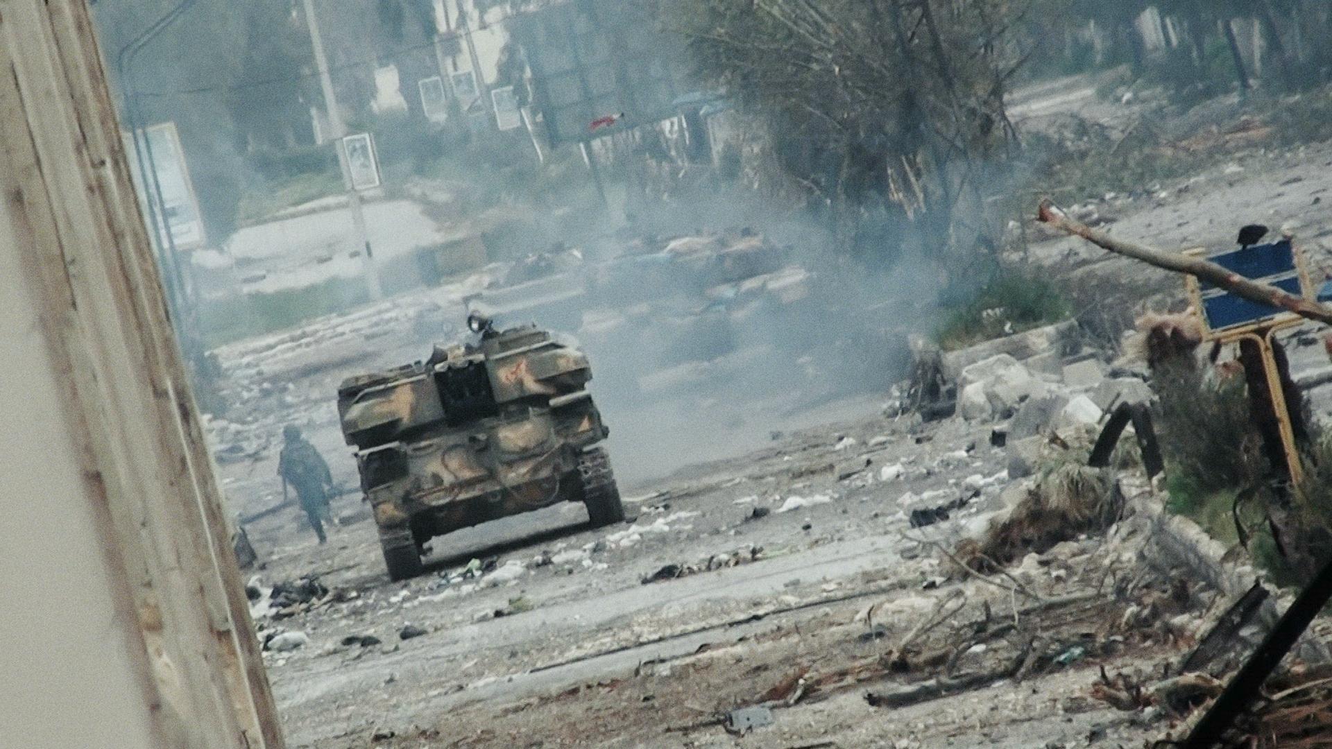 "From Talal Derkel's ""Return to Homs."" Courtesy of Proaction Films/Ventana Films"