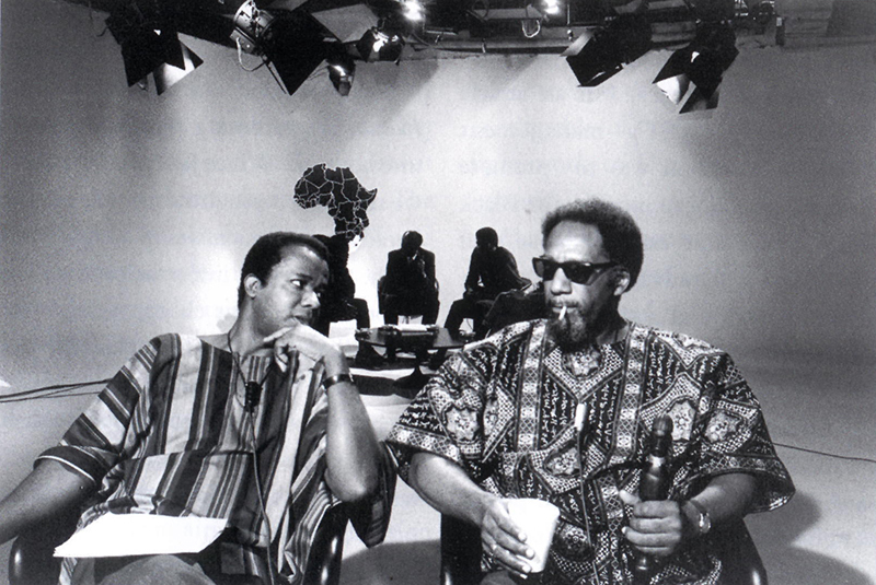 William Greaves, left, on the set of the 1960s public television show <em>Black Journal</em>. Courtesy of William Greaves