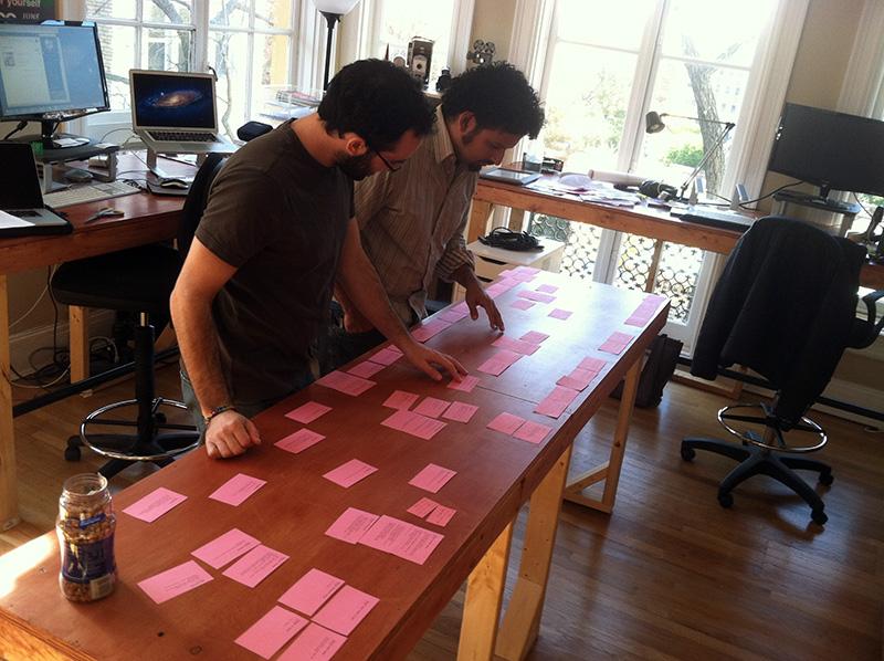 Brandon Kramer (left), director, 'City of Trees', with editor Edwin Martinez