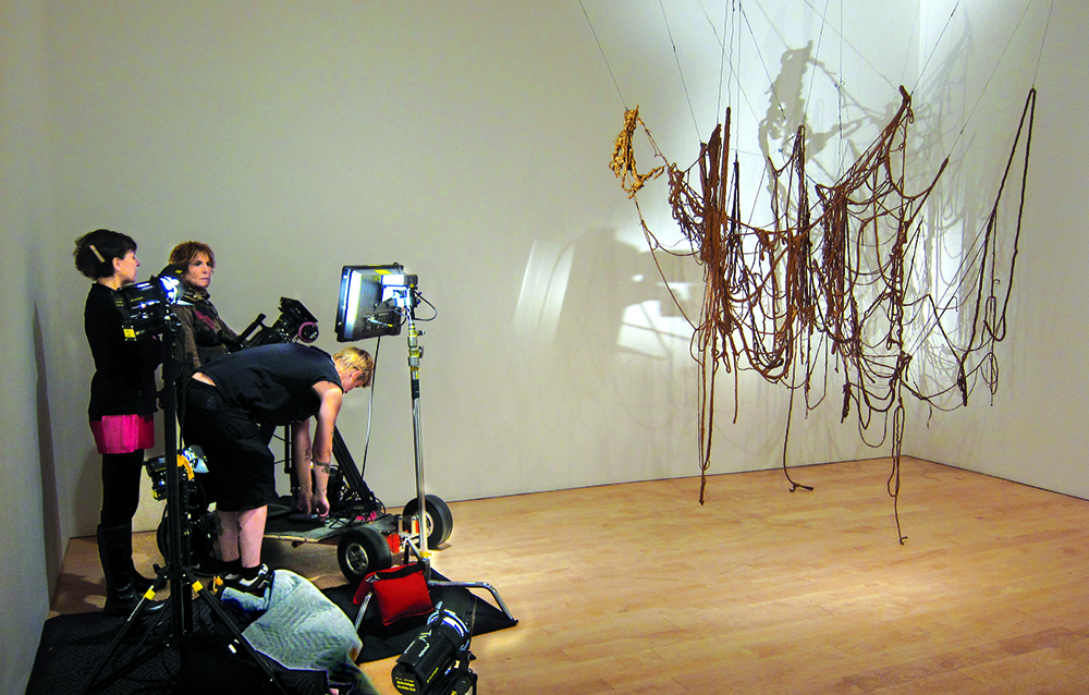 Shooting Hesse's 'Untitled (Rope Piece)' at the Whitney Museum in 2012.