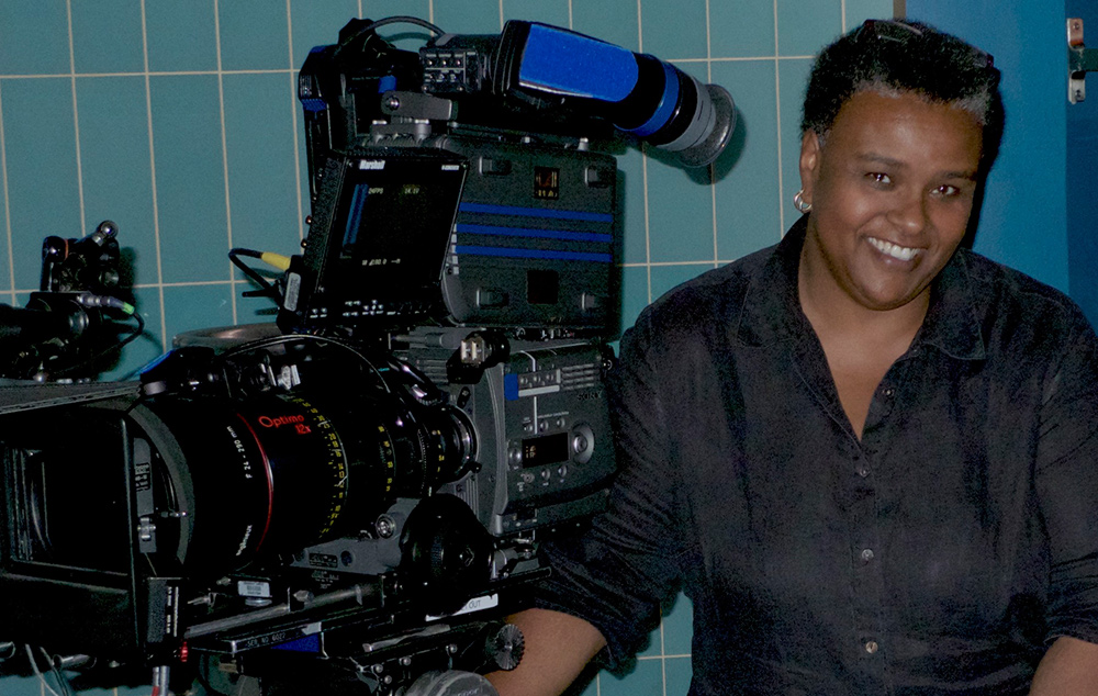 Cinematographer Michelle Crenshaw, who shot Lyn Goldfarb's 'Bridging the Divide: Tom Bradley and the Politics of Race.'