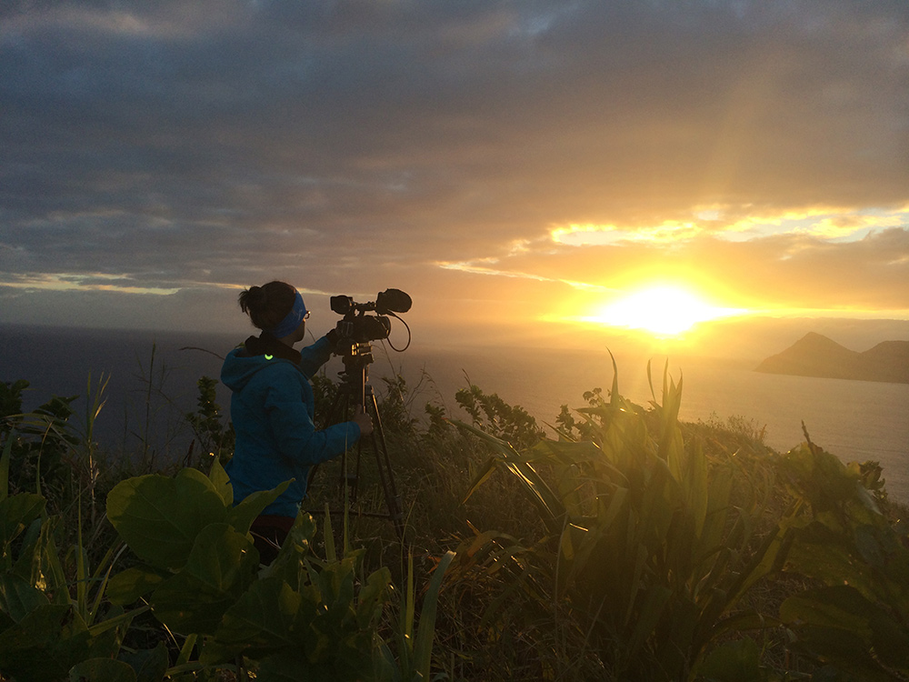 SVA Social Documentary alum Antonella Carrosco filming her thesis film in Vanuata.