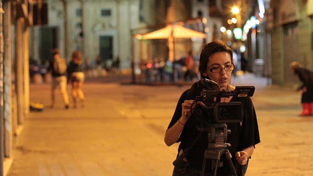 SVA Social Documentary student Daysi Burbano Hinojosa filming her thesis film in Italy.