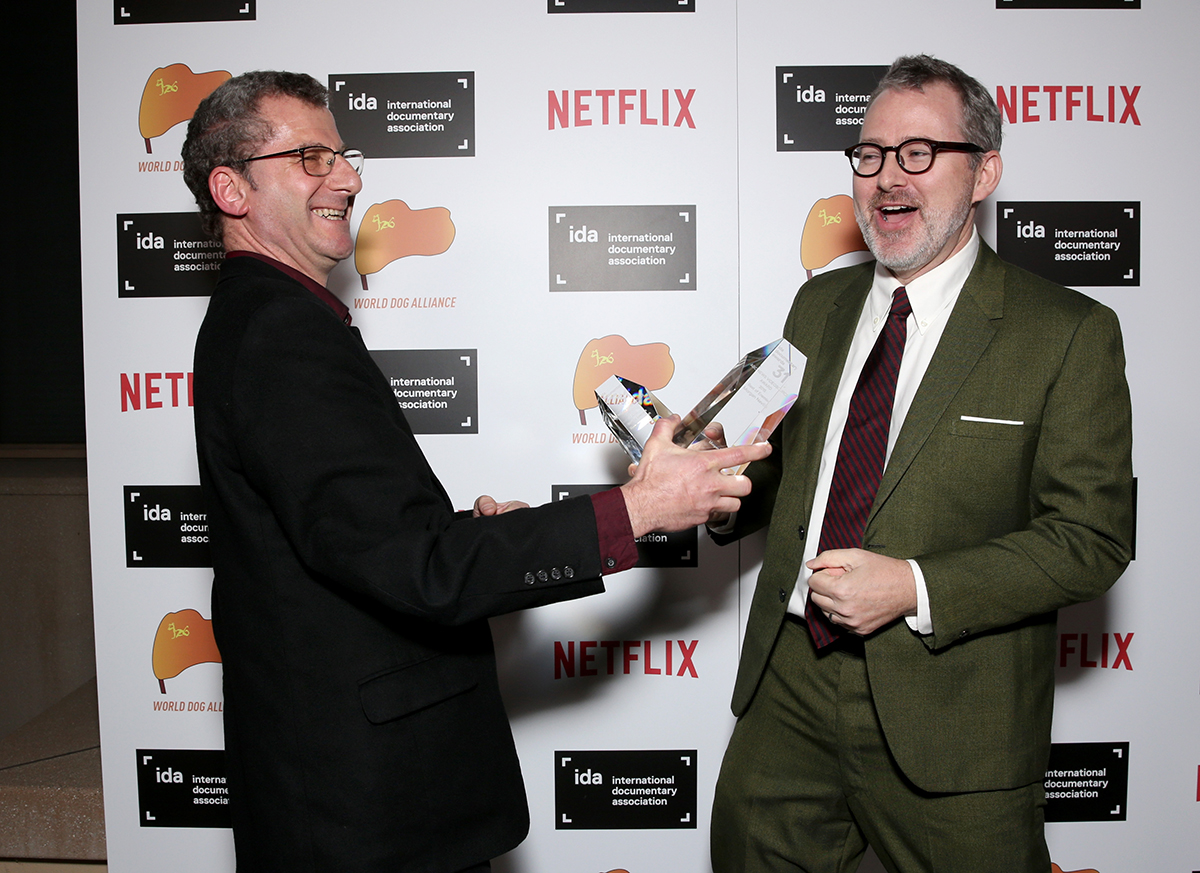 ABC News VideoSource Award winners Robert Gorden and Morgan Neville