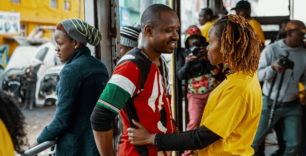 Njeri and Boniface Mwangi, from Sam Soko's 'Softie.'