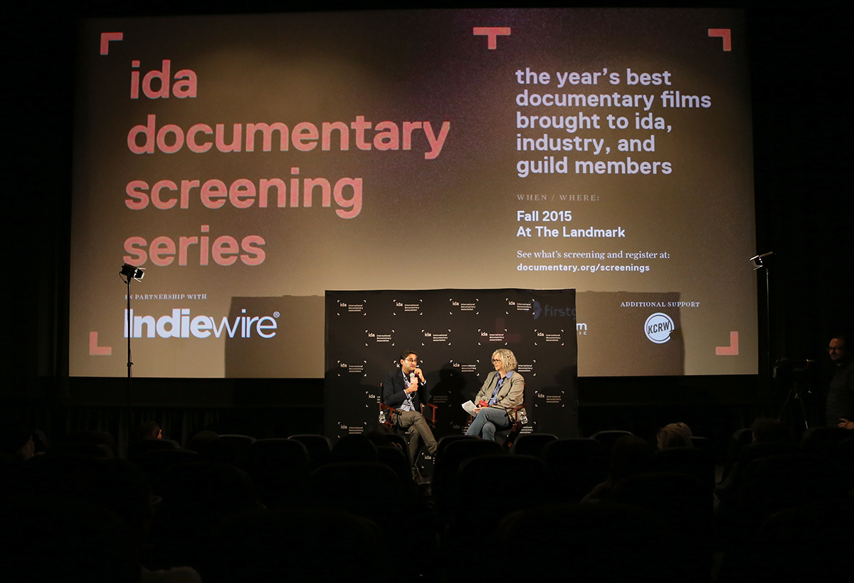 Amy filmmaker Asif Kapadia with Indiewire Editor-at-Large Anne Thompson