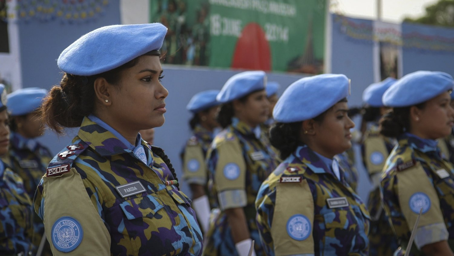"From Geeta Gandhir and Sharmeen Obaid-Chinoy's ""Journey of a Thousand: Peacekeepers,"" which airs March 26 on PBS as part of ""Women, War & Peace II."" Courtesy of Asad Faruqi"
