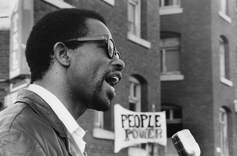 Eldridge Cleaver, Berkeley. From Stanley Nelson's 'The Black Panthers: Vanguard of the Revolution.' Photo: Jeffrey Blankfort.