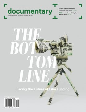 Spring 2017 cover of Documentary magazine with origami camera on tripod