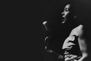 Billie Holiday on stage in Rochester, NY