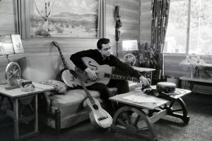 Johnny Cash at his home in California, 1960. From Ken Burns' upcoming series, 'Country Music,' airing in September on PBS. Courtesy of Sony Music.