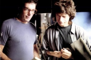 Malcolm Leo goes over some of the questions with Mick Jagger