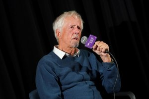 Michael Apted, speaking at an IDA Screening Series showing of his final film, '63-UP.' Photo: Laura Ahmed