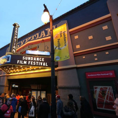 The marquee of the Egyptian Theatre, one of the venues of the Sundance Film Festival