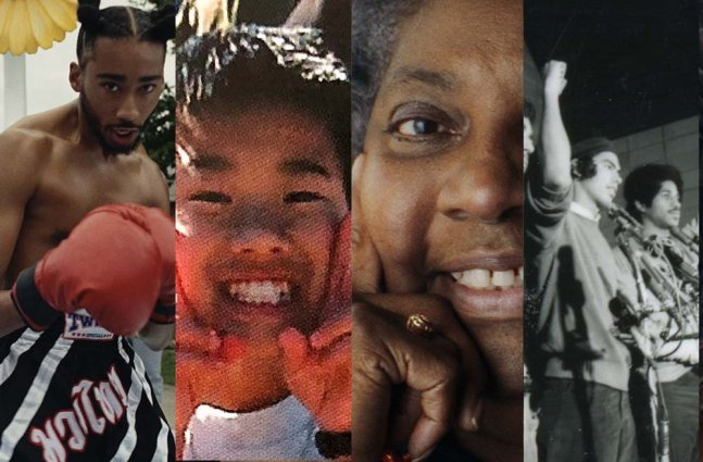 A collage of stills from four New York Times Op-Docs.