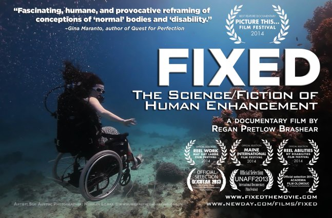 Movie poster for 'Fixed: The Science/Fiction of Human Enhancement'