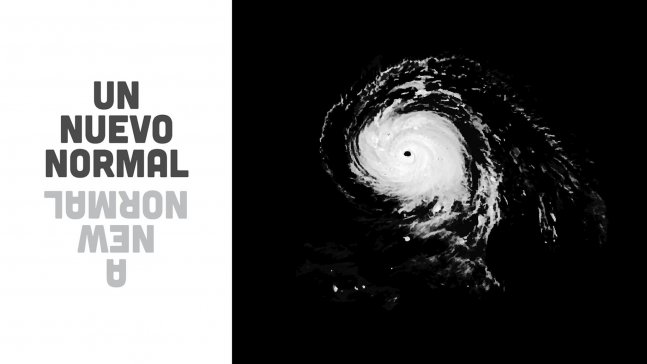 black and white picture of a hurricane from space.