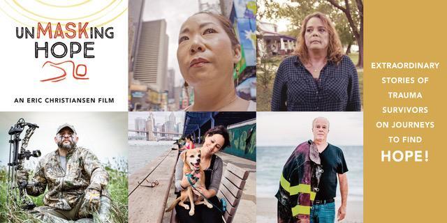 five different portrait of diverse trauma survivors.