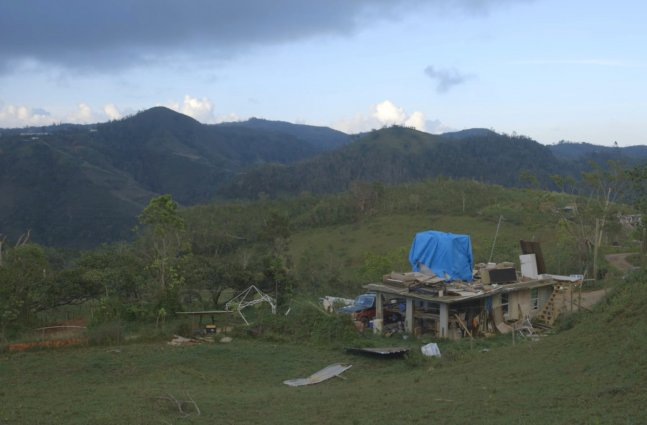 single building in Puerto Rican mountains