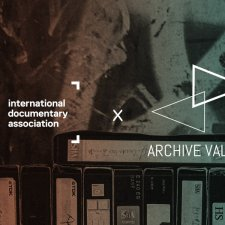 IDA logo x Archive Valley logo on top of an image with a row of VHS tapes.