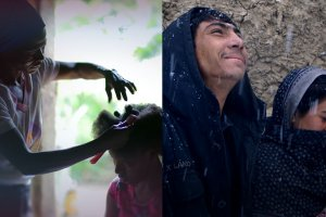 A collage of stills from two IDA Grantee Shorts.