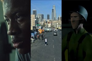 A collage of stills from three Netflix shorts.