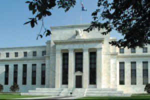 The white stone building of the Federal reserve