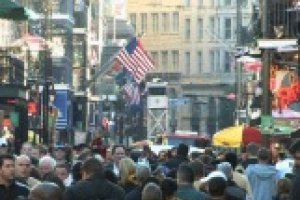 crowd of people in a city