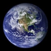 A satellite picture of the earth from space.