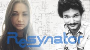 a young Woman and an old 70's era photo of a young man with a mustache are superimposed over sound frequency charts.