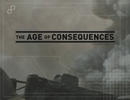 Logo of 'Age of Consequence' in black and white.